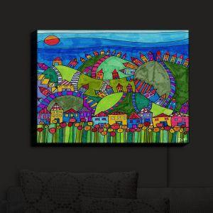 Nightlight Sconce Canvas Light | Dora Ficher - Rolling Hills | Bright Colors Hills
