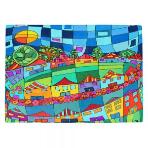 Countertop Place Mats | Dora Ficher - Round and Around | City Neighborhood