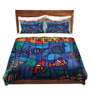 Artistic Duvet Covers and Shams Bedding | Dora Ficher - Sea Life