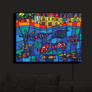 Nightlight Sconce Canvas Light | Dora Ficher's Sea Life