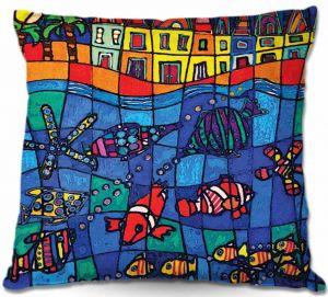 Decorative Outdoor Patio Pillow Cushion | Dora Ficher - Sea Life
