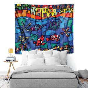 Artistic Wall Tapestry | Dora Ficher Sea Life