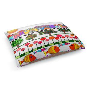 Decorative Dog Pet Beds | Dora Ficher - Silver Door | City Neighborhood Fish