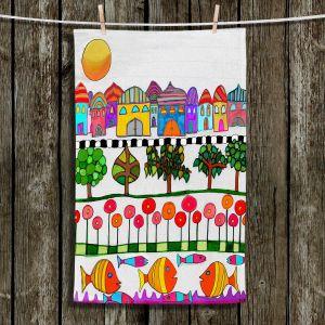 Unique Hanging Tea Towels | Dora Ficher - Silver Door | City Neighborhood Fish