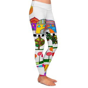 Casual Comfortable Leggings | Dora Ficher - Silver Door | City Neighborhood Fish