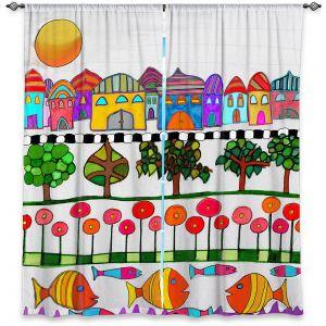 Decorative Window Treatments | Dora Ficher - Silver Door | City Neighborhood Fish