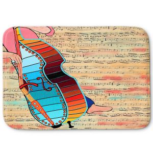 Decorative Bathroom Mats | Dora Ficher - Strings | cello instrument music