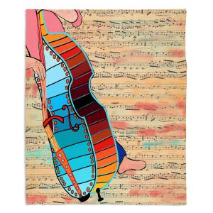 Decorative Fleece Throw Blankets | Dora Ficher - Strings | cello instrument music