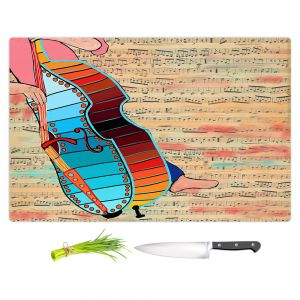 Artistic Kitchen Bar Cutting Boards | Dora Ficher - Strings | cello instrument music