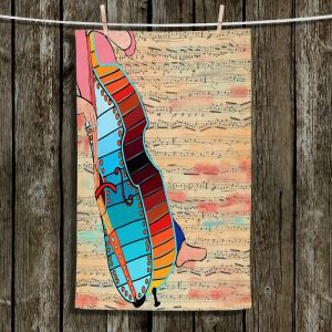 Unique Hanging Tea Towels | Dora Ficher - Strings | cello instrument music