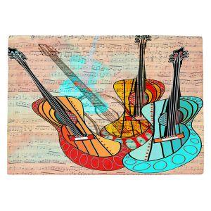 Countertop Place Mats   Dora Ficher - Strumming Away   music instrument abstract simple