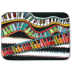Decorative Bathroom Mats | Dora Ficher - The Keys Keep Dancing | keyboard piano music instrument