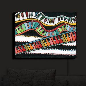 Nightlight Sconce Canvas Light | Dora Ficher - The Keys Keep Dancing | keyboard piano music instrument