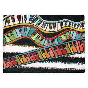 Countertop Place Mats | Dora Ficher - The Keys Keep Dancing | keyboard piano music instrument