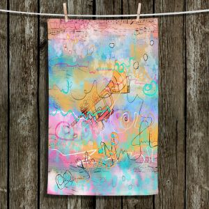 Unique Hanging Tea Towels | Dora Ficher - The Sounds of Trumpets | music instrument abstract simple