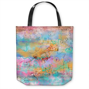 Unique Shoulder Bag Tote Bags | Dora Ficher - The Sounds of Trumpets | music instrument abstract simple