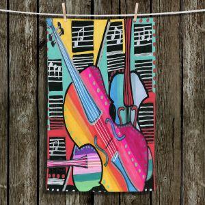 Unique Hanging Tea Towels | Dora Ficher - The Three Violins 2 | string instrument music