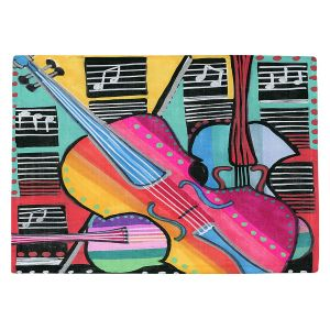 Countertop Place Mats | Dora Ficher - The Three Violins 2 | string instrument music
