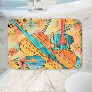 Decorative Bathroom Mats | Dora Ficher - The Three Violins 2 | string instrument music