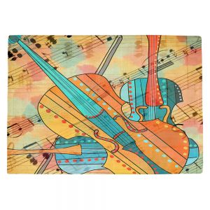 Countertop Place Mats | Dora Ficher - The Three Violins | music instrument abstract simple