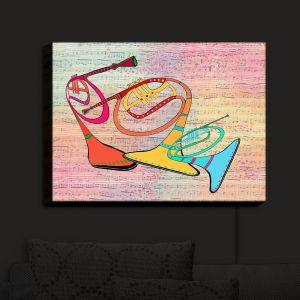 Nightlight Sconce Canvas Light | Dora Ficher - Three Horns | music instrument abstract simple