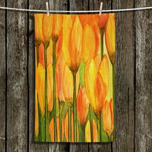 Unique Hanging Tea Towels | Dora Ficher - Tulips | Flowers