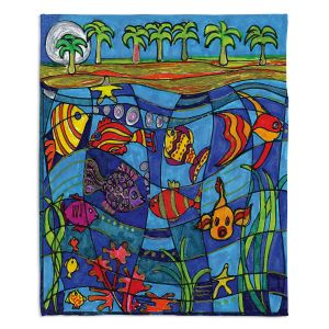 Decorative Fleece Throw Blankets | Dora Ficher - Under the Sea