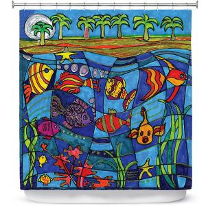 Premium Shower Curtains | Dora Ficher Under the Sea