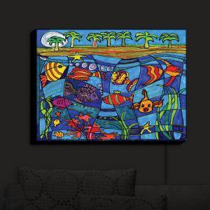 Nightlight Sconce Canvas Light | Dora Ficher - Under the Sea
