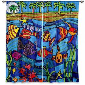 Decorative Window Treatments | Dora Ficher Under the Sea