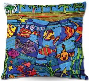 Throw Pillows Decorative Artistic   Dora Ficher Under the Sea