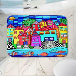 Decorative Bathroom Mats   Dora Ficher - Window Boxes   City Neighborhood Fish