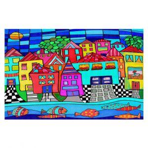 Decorative Floor Coverings   Dora Ficher - Window Boxes   City Neighborhood Fish