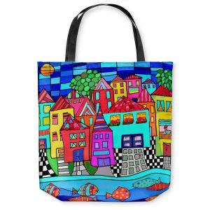 Unique Shoulder Bag Tote Bags | Dora Ficher - Window Boxes | City Neighborhood Fish