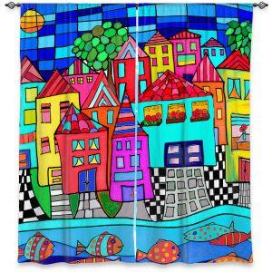 Decorative Window Treatments | Dora Ficher - Window Boxes | City Neighborhood Fish