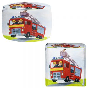 Round and Square Ottoman Foot Stools | Gabriel Cunnett - Fire Truck