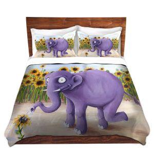 Artistic Duvet Covers and Shams Bedding | Gabriel Cunnett - Growth Spurt Elephant