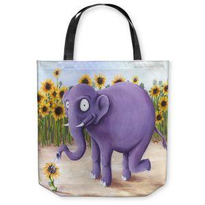 Unique Shoulder Bag Tote Bags   Gabriel Cunnett Growth Spurt Elephant