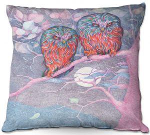 Throw Pillows Decorative Artistic | Gerry Segismundo - Cranky Couple | bird nature owl tree