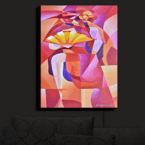 Nightlight Sconce Canvas Light | Gerry Segismundo - Dancer with Fan Cubism 2