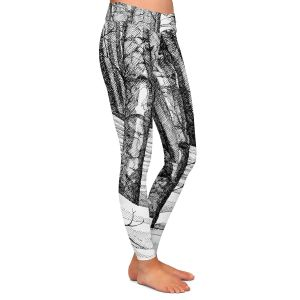 Casual Comfortable Leggings | Gerry Segismundo - Dont Snowboard Here | landscape snow trees forest
