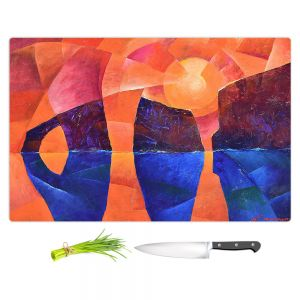 Artistic Kitchen Bar Cutting Boards   Gerry Segismundo - Guardians of Ocean   landscape water cliff abstract geometric