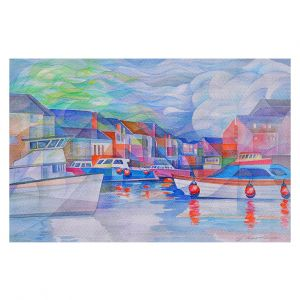 Decorative Floor Covering Mats | Gerry Segismundo - Harbor Somewhere | city bay water ocean boats