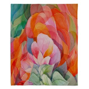 Decorative Fleece Throw Blankets | Gerry Segismundo - In Bloom | flower close up abstract