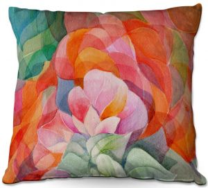 Decorative Outdoor Patio Pillow Cushion | Gerry Segismundo - In Bloom | flower close up abstract