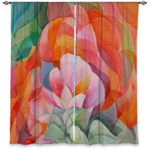 Unique Window Curtains Lined 80w x 52h from DiaNoche Designs by Gerry Segismundo - In Bloom