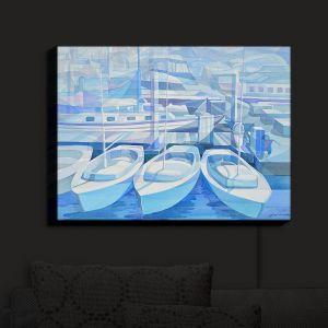 Nightlight Sconce Canvas Light | Gerry Segismundo - Marina in Blue 1
