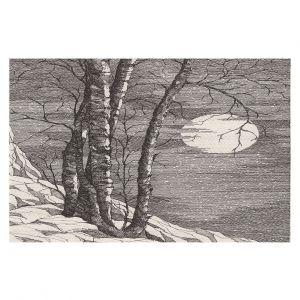 Decorative Floor Covering Mats | Gerry Segismundo - Moonlight Sonata 1 | landscape snow trees moon
