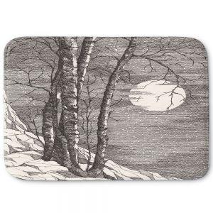 Decorative Bathroom Mats   Gerry Segismundo - Moonlight Sonata 1   landscape snow trees moon