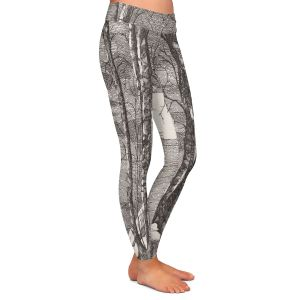 Casual Comfortable Leggings | Gerry Segismundo - Moonlight Sonata 1 | landscape snow trees moon